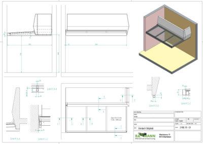 Technische Zeichnung für ein Projekt