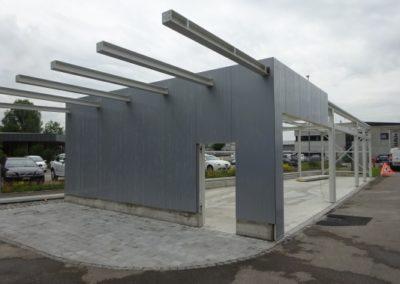 Stahlbau Einstellhalle mit Panelen